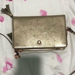 Gold Brand New Giani Bini Crossbody Bag